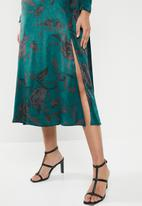 VELVET - Satin midi dress - teal