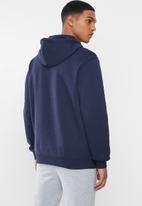 PUMA - Big logo essential fleece hoodie - peacoat