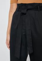 Superbalist - Paperbag pant - black