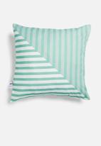 Sixth Floor - Tara cushion cover - blue & teal