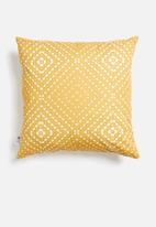 Sixth Floor - Dina cushion cover - yellow & white