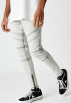 Factorie - Zip panel super skinny jean - pale acid grey