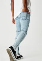 Factorie - Zip panel super skinny jean - pale acid blue