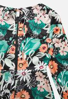 Glamorous - Petite long sleeve floral midi dress - multi