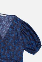 Glamorous - Petite ditsy floral midi wrap dress - multi