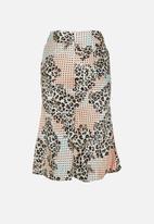 Glamorous - Petite midi skirt - multi