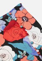 Glamorous - Petite large floral pencil skirt - multi