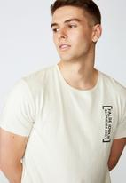 Factorie - False prophets NYC curved graphic T-shirt - ivory