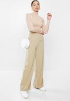 Glamorous - Petite wide leg trouser - stone