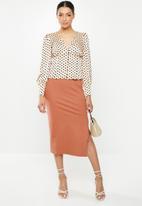 Glamorous - Petite pencil skirt - faded rust