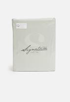 Sheraton Textiles - 400tc Egyptian cotton oxford duvet cover set - sea foam green