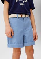 MANGO - Bermuda shorts pico - blue