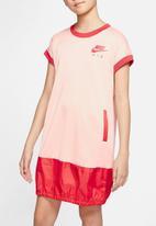 Nike - Nike short sleeve air dress - coral & red