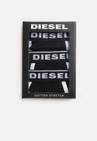 Diesel  - Ufpn-oxy 3 pack panties - black & white