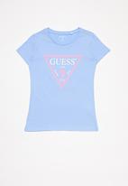 GUESS - Short sleeve core tri tee - blue