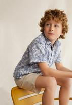 MANGO - Shirt Fiji - blue & white