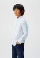 MANGO - Shirt oxford - blue