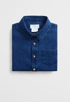 MANGO - Denim shirt - blue