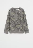 MANGO - Sweatshirt tigers  - grey