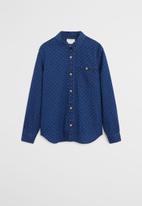 MANGO - Shirt ink  - blue