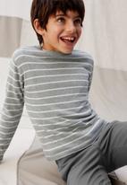 MANGO - Sweater lucas  - grey & white
