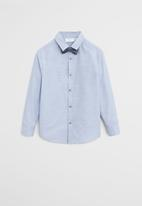 MANGO - Shirt & tie Stuart - blue