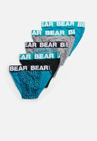 Bear - Bear supreme 5 pack tanga - multi