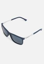 Emporio Armani - Rectangle sunglasses 58mm - navy & silver