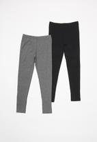 Rebel Republic - Girls 2 pack leggings - black & grey