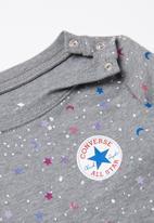 Converse - Converse long sleeve tee dress diaper cover - grey