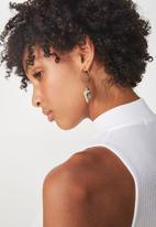 Rubi - South bay earring - gold & shell