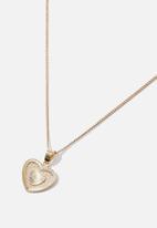Rubi - Treasures short pendant necklace  - gold vintage