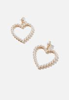 Rubi - Stole my heart treasures earrings  - gold & pearl