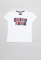 GUESS - Guess 1981 peepout tee - white