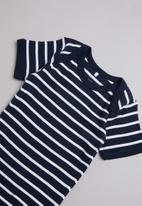 name it - 3 Pack short sleeve bodysuit - navy & white