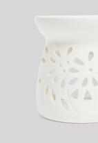 Amanda Jayne - Ceramic oil burner - floral - white