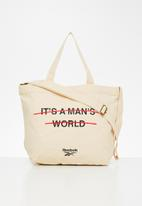 Reebok Classic - Cl its mens world tote - cream