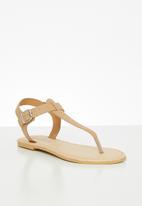 Superbalist - Zizi leather t-bar sandal - neutral