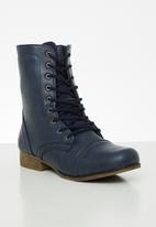 STYLE REPUBLIC - Lola lace-up boot - navy