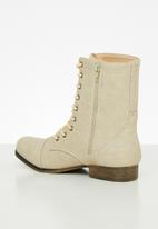 STYLE REPUBLIC - Lola lace-up boot - sand