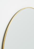 Sixth Floor - Cleo round mirror - gold