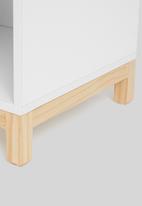 Blockhouse - Hugo bedside table - white