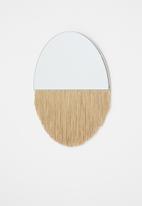 Sixth Floor - Fringe round mirror - neutral