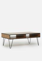 Sixth Floor - Penn leg coffee table - natural & black