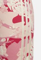 adidas Originals - All over print leggings - pink & neutral