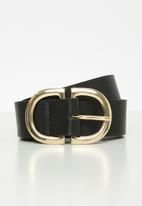 Rubi - Dd buckle belt - black