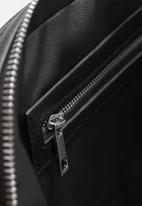 MANGO - Handbag grain - black