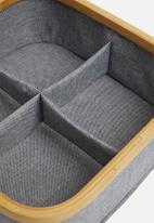 Sixth Floor - Bamboo square storage basket - grey