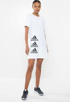 adidas Performance - W stack T-dress - white