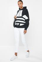 adidas Originals - Large logo hoodie - black & white